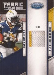 2011 Panini Certified Ryan Mathews Fabric of the Game Prime
