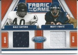 2011 Panini Certified Fabric of the Game Dual Bears