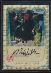 2011 Bowman Chrome Superfractor Mason Williams 1/1