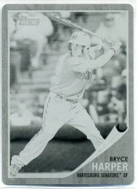 2011 Topps Heritage Minor League Bryce Harper 1/1 Printing Plate