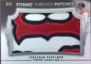 2011 Topps Marquee Titanic Threads Jonathan Papelbon Patch