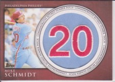 2012 Topps Series 1 Mike Schmidt Retired Number Patch