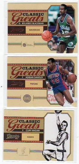 2010-11 Panini Classics Basketball Greats Insert Cards