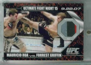 2009 Topps UFC Round 1 #DMRG Mauricio Rua - Forrest Griffin Mat Relics Cards