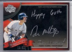 2011 Topps Tier 1 Don Mattingly Happy 60th Topps
