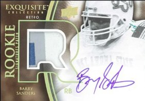 2010 Exquisite Barry Sanders RC Patch Autograph