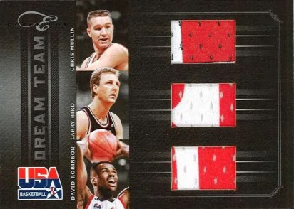 2010-11 Panini Elite Black Box Dream Team Mullin - Robinson - Bird Triple Jersey Card