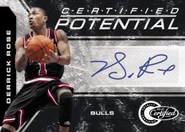 2010-11 Certified Potential Derrick Rose Autograph