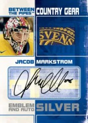 2010/11 ITG Between The Pipes Jacob Markstrom Autograph Patch Emblem Card