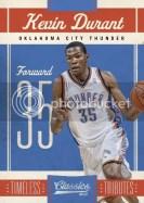 2010/11 Panini Classics Kevin Durant Base Card