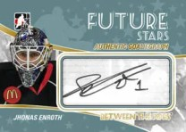 2010/11 ITG Between The Pipes Future Stars GoalieGraphs Jhonas Enroth Auto Card