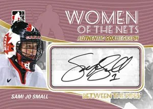 2010/11 ITG Between The Pipes GoalieGraph Women of the Game Sami Jo Small Auto Card