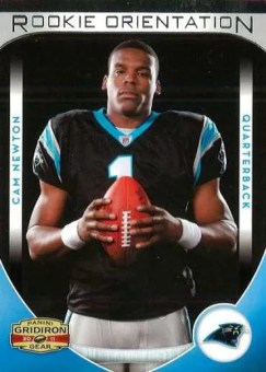 2011 Panini Gridiron Gear Rookie Orientation Cam Newton Card