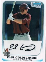 2011 Bowman Chrome Paul Goldschmidt BCP99