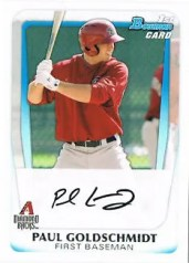 2011 Bowman Paul Goldschmidt Rookie RC
