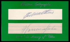 2011 Historic Autographs Green Border Dual Cut Signature