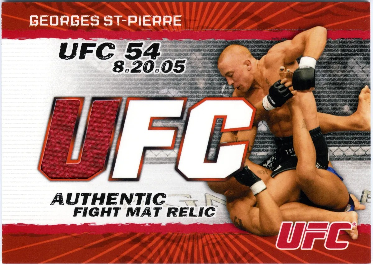 2009 Topps UFC Fight Mat Relics Georges St-Pierre Card