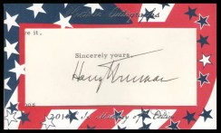 2011 Historic Autographs Harry Truman Cut Signature