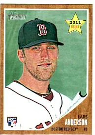 2011 Topps Heritage Lars Anderson Rookie RC
