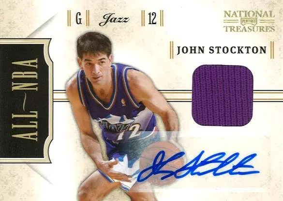 2010-11 Panini National Treasures All-NBA John Stockton Autograph Card