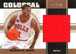 2010/11 Panini National Treasures Colossal Derrick Rose Jersey Card