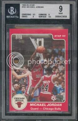 84-85 Star Michael Jordan BGS 9 Rookie RC Card