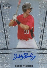 2011 Leaf Metal Draft Bubba Starling Autograph