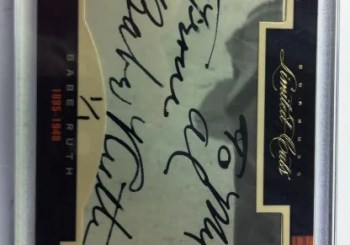 2011 Donruss Limited Cuts Babe Ruth Cut Autograph Card