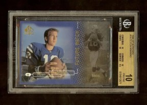 1998 Upper Deck SP Authentic Peyton Manning RC Card