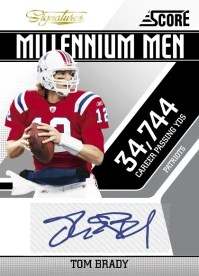 2011 Score Football Tom Brady Millennium Men Autograph Card