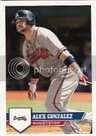 2011 Topps MLB Sticker Alex Gonzalez