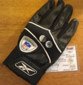 Miles Austion Game Used Football Glove