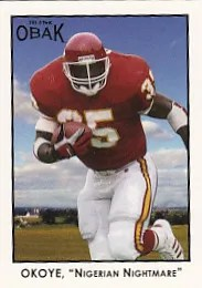 2011 TriStar Obak Football Christian Okoye