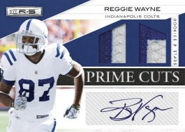 2011 Rookies & Stars Reggie Wayne Prime Cuts Auto