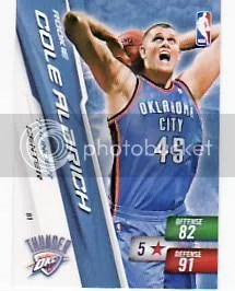 Cole Aldrich Rookie Adrenalyn Card