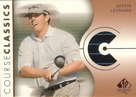 2003 Upper Deck SP Authentic Golf Shirt Justin Leonard Card