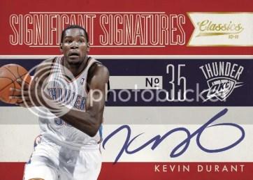 2010/11 Panini Classics Significant Signatures Kevin Durant Autograph Card
