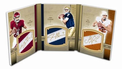 2010 Exquisite Tri-Fold Rookie Patch Book Card