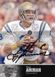 2011 College Legends Troy Aikman Autograph