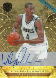 2010-11 Panini Gold Standard Wesley Johnson Autograph RC Card