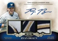 2012 Topps Tier One Autograph Ryan Braun 1/1