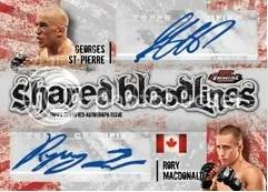 2012 Topps Finest UFC Dual Autograph Bloodlines