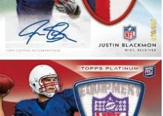 2012 Topps Platinum Andrew Luck Autograph NFL Shield Patch