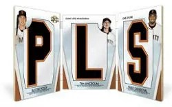 2012 Topps Triple Threads San Francisco Giants Book Card