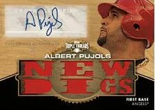 2012 Topps Triple Threads Albert Pujols Wood 1/1 Auto