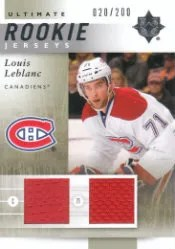 11/12 Louis Leblanc Ultimate Collection Jersey RC