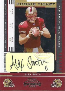 2005 Playoff Contenders Alex Smith Rookie Autograph #/401