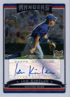 2006 Topps Chrome Ian Kinsler Autograph RC Card #340