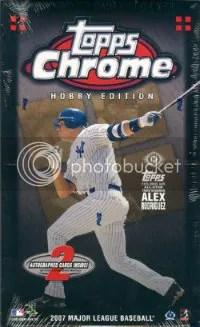 2007 Topps Chrome Baseball Box