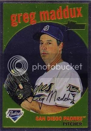 2008 Topps Heritage Chrome Greg Maddux Insert Card